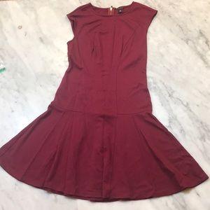 Cranberry fit/flare dress